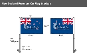New Zealand Car Flags 10.5x15 inch Premium