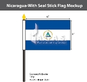 Nicaragua Stick Flags 4x6 inch (with seal)