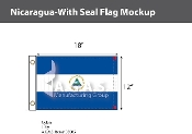 Nicaragua Flags 12x18 inch (with seal)