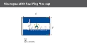 Nicaragua Flags 2x3 foot (with seal)