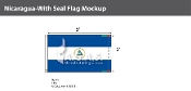Nicaragua Flags 3x5 foot (with seal)