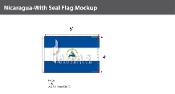 Nicaragua Flags 4x6 foot (with seal)