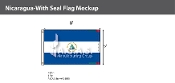 Nicaragua Flags 5x8 foot (with seal)