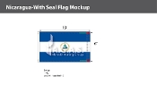 Nicaragua Flags 6x10 foot (with seal)