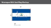 Nicaragua Flags 8x12 foot (with seal)