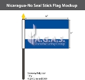 Nicaragua Stick Flags 4x6 inch (no seal)
