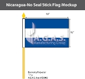Nicaragua Stick Flags 12x18 inch (no seal)