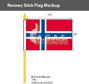 Norway Stick Flags 12x18 inch