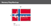 Norway Flags 8x12 foot