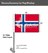 Norway Car Flags 12x16 inch Economy
