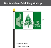 Norfolk Island Stick Flags 4x6 inch