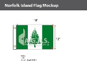Norfolk Island Flags 12x18 inch