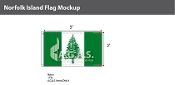 Norfolk Island Flags 3x5 foot