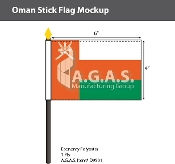 Oman Stick Flags 4x6 inch