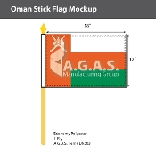 Oman Stick Flags 12x18 inch