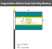 Organization Of African Unity Stick Flags 4x6 inch