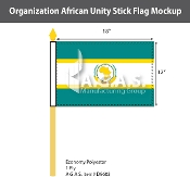 Organization Of African Unity Stick Flags 12x18 inch