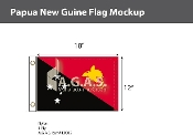 Papua New Guinea Flags 12x18 inch