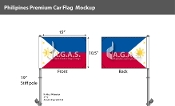 Philippines Car Flags 10.5x15 inch Premium