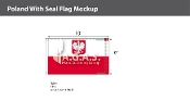 Poland Flags 6x10 foot (with seal)