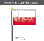 Poland Stick Flags 4x6 inch (no seal)
