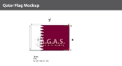 Qatar Flags 4x6 foot