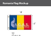 Romania Flags 12x18 inch