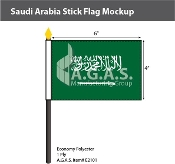 Saudi Arabia Stick Flags 4x6 inch