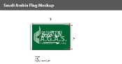 Saudi Arabia Flags 2x3 foot