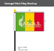 Senegal Stick Flags 4x6 inch