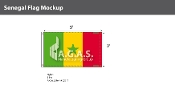 Senegal Flags 3x5 foot