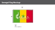 Senegal Flags 8x12 foot