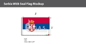 Serbia Flags 2x3 foot (with seal)