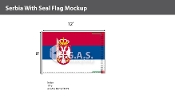 Serbia Flags 8x12 foot (with seal)