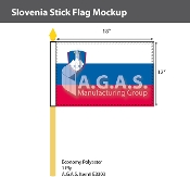 Slovenia Stick Flags 12x18 inch