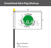 Somaliland Stick Flags 4x6 inch