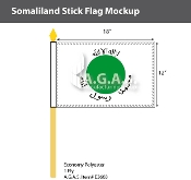 Somaliland Stick Flags 12x18 inch