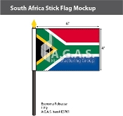 South Africa Stick Flags 4x6 inch