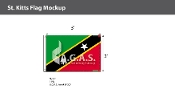 St. Kitts Flags 2x3 foot