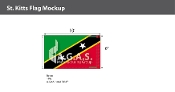 St. Kitts Flags 6x10 foot