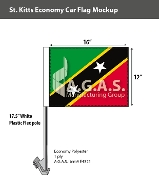 St. Kitts Car Flags 12x16 inch Economy