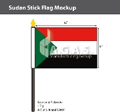 Sudan Stick Flags 4x6 inch