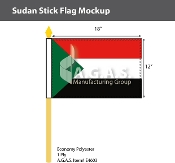 Sudan Stick Flags 12x18 inch