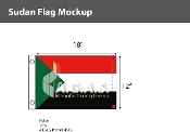 Sudan Flags 12x18 inch