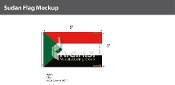 Sudan Flags 3x5 foot