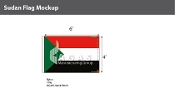 Sudan Flags 4x6 foot