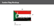 Sudan Flags 6x10 foot
