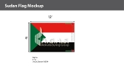 Sudan Flags 8x12 foot
