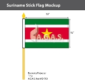 Suriname Stick Flags 12x18 inch