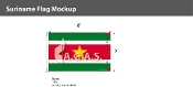 Suriname Flags 5x8 foot
